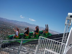 X-Scream: That's me in the second row, holding on for dear life!