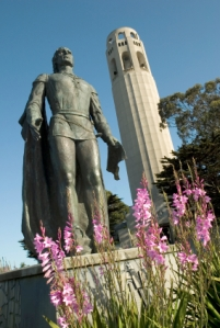 Near the Coit tower in San Francisco, U.S.A.