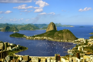 Sugarloaf and Guanabara Bay, Rio de Janeiro, Brazi
