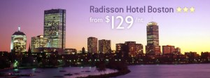 Radisson Hotel Boston from $129/night
